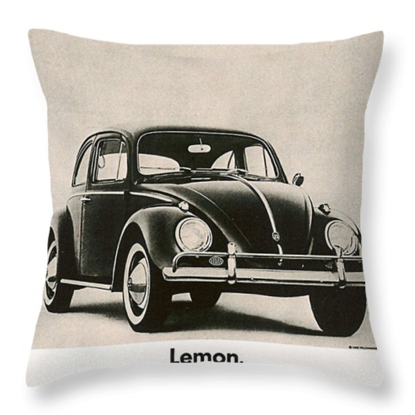 Lemon Throw Pillow by Nomad Art And  Design