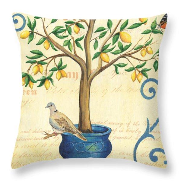 Lemon Tree of Life Throw Pillow by Debbie DeWitt