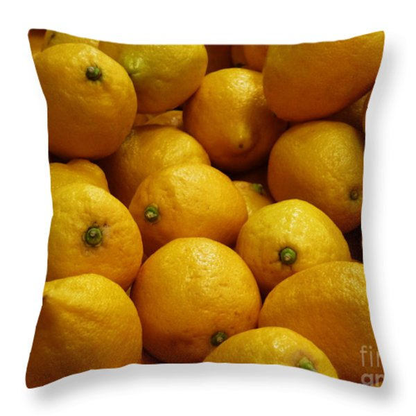 Lemons Throw Pillow by Methune Hively