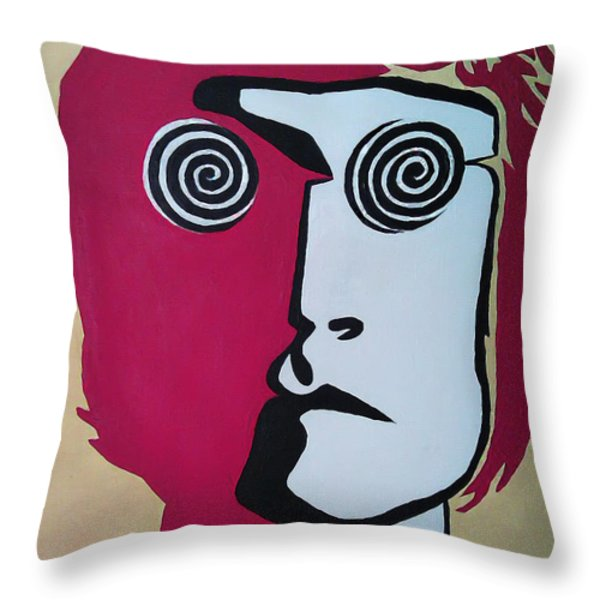 Lennon Throw Pillow by Kenny Cannon