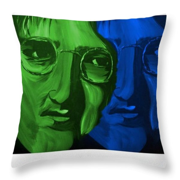Lennon Throw Pillow by Mark Moore