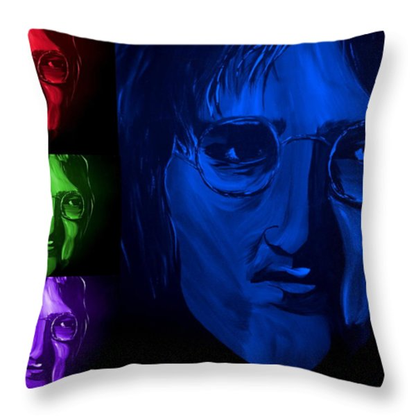 Lennon The Legend Throw Pillow by Mark Moore
