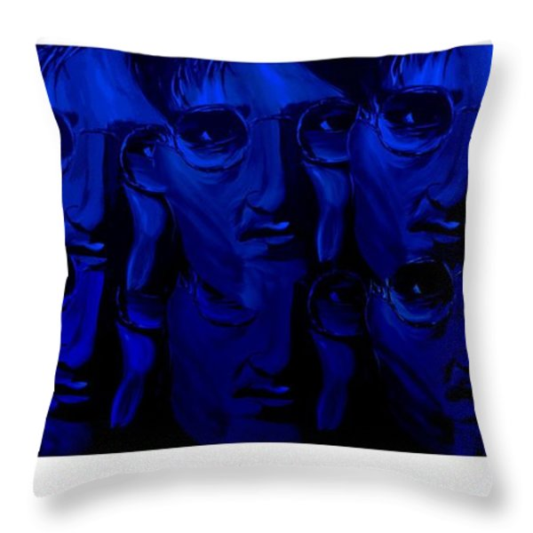 Lennon's World Throw Pillow by Mark Moore