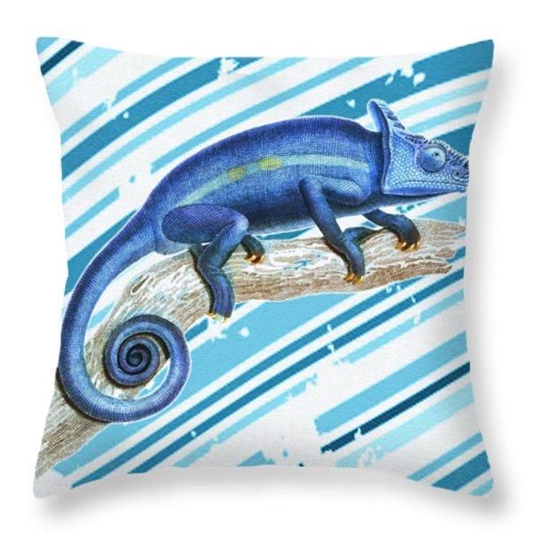Leo Loves Lizards Throw Pillow by Nikki Marie Smith