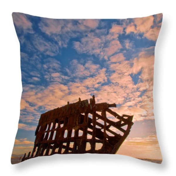 Leopard Clouds Throw Pillow by Dan Mihai