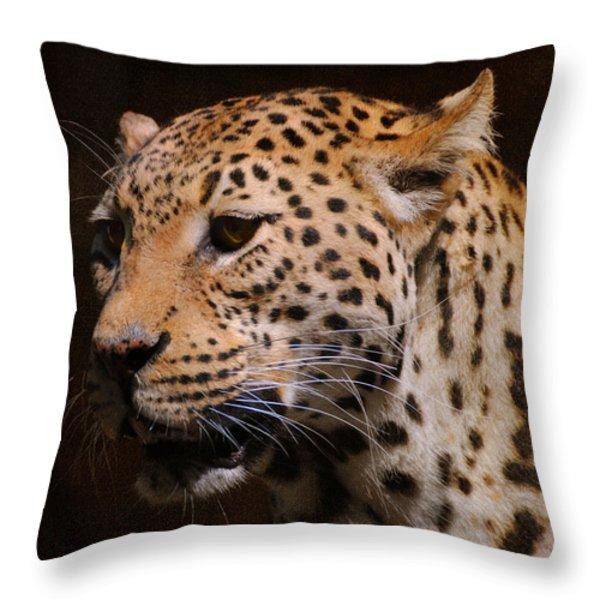 Leopard IIi Throw Pillow by Jai Johnson