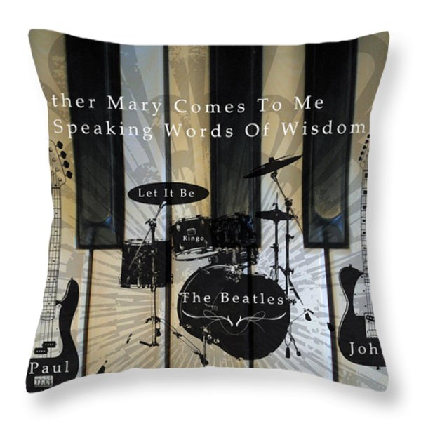 Let It Be Throw Pillow by Michael Damiani