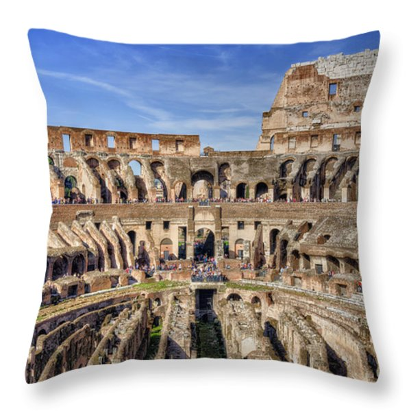Let The Games Begin Throw Pillow by Joan Carroll