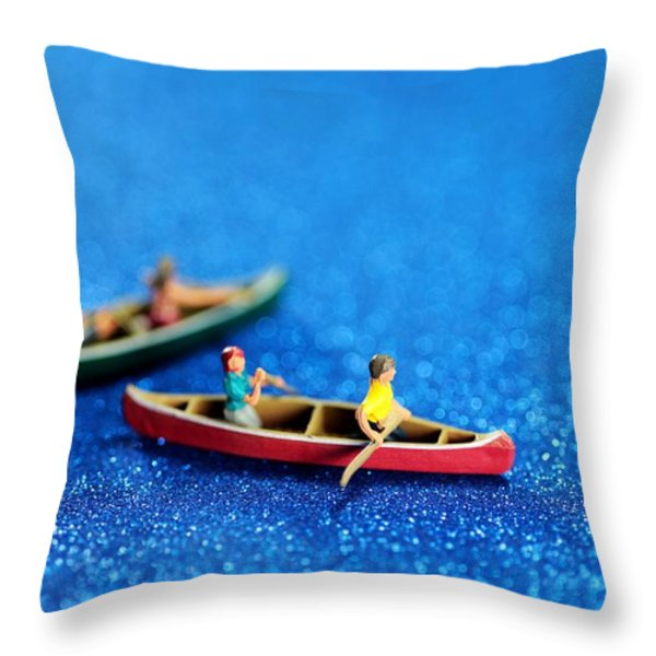 Let's boating together Throw Pillow by Paul Ge