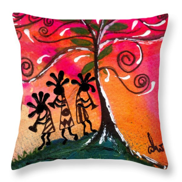 Let's Play Throw Pillow by Angela L Walker