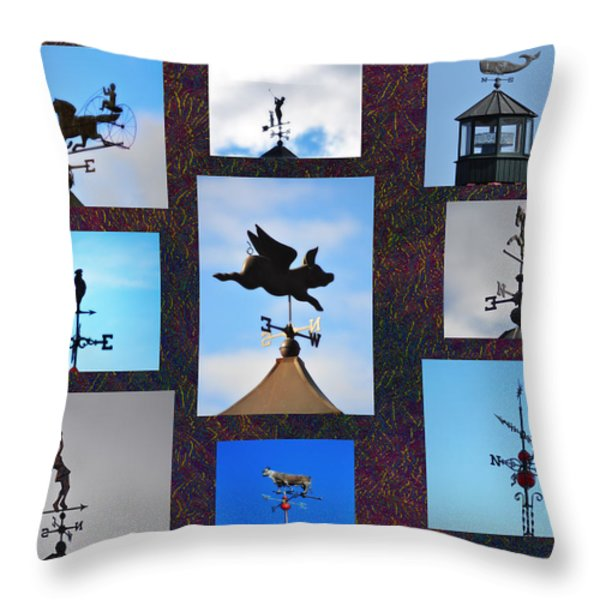 Lets Talk About The Weather Throw Pillow by Bill Cannon