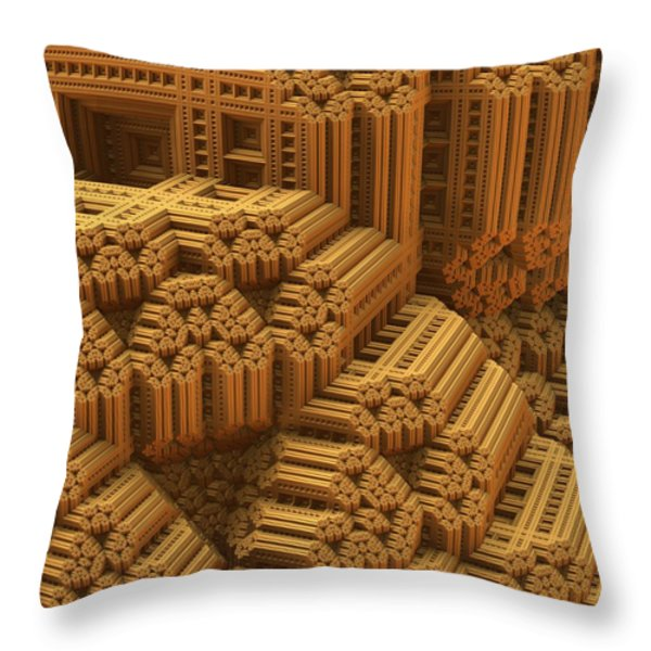 Level And Plumb Throw Pillow by Lyle Hatch