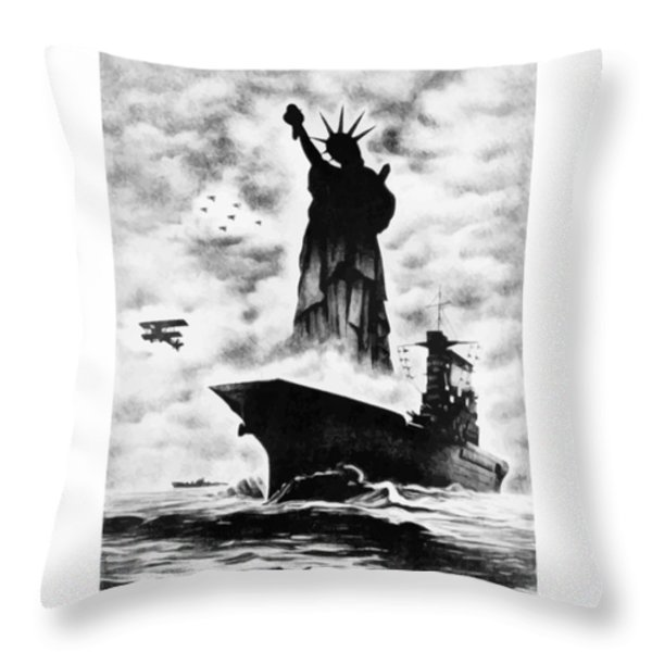 Liberty For All -- Keep 'Em Flying  Throw Pillow by War Is Hell Store
