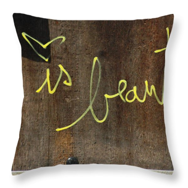 Life is Beautiful Graf Throw Pillow by AdSpice Studios