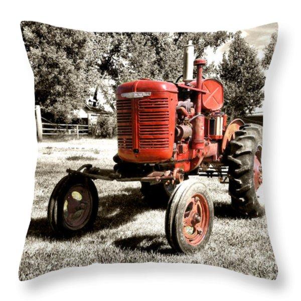 Life On The Farm Throw Pillow by Susan Kinney