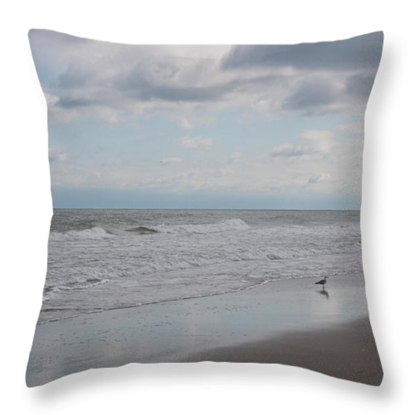 Lifes A Beach Throw Pillow by Suzanne Gaff