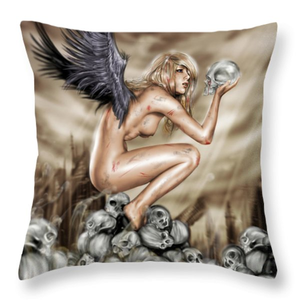 Lifting the Veil Throw Pillow by Pete Tapang