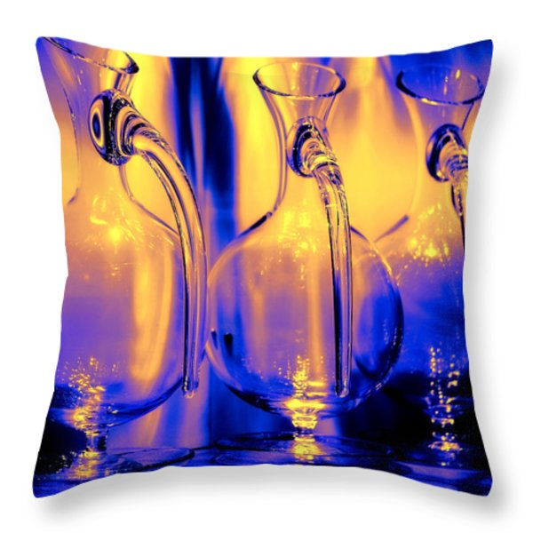 Light and Colors Play I Throw Pillow by Jenny Rainbow