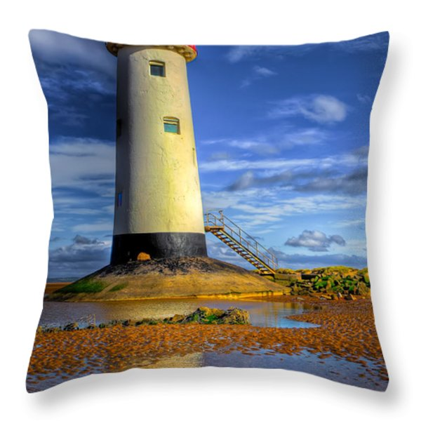 Lighthouse Throw Pillow by Adrian Evans