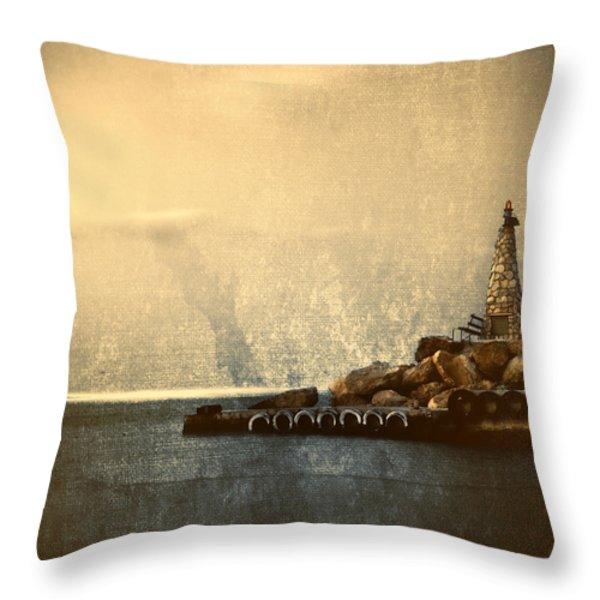 Lighthouse Throw Pillow by Stelios Kleanthous