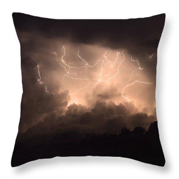 Lightning Throw Pillow by Bob Christopher