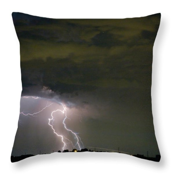 Lightning Man in the Clouds Throw Pillow by James BO  Insogna