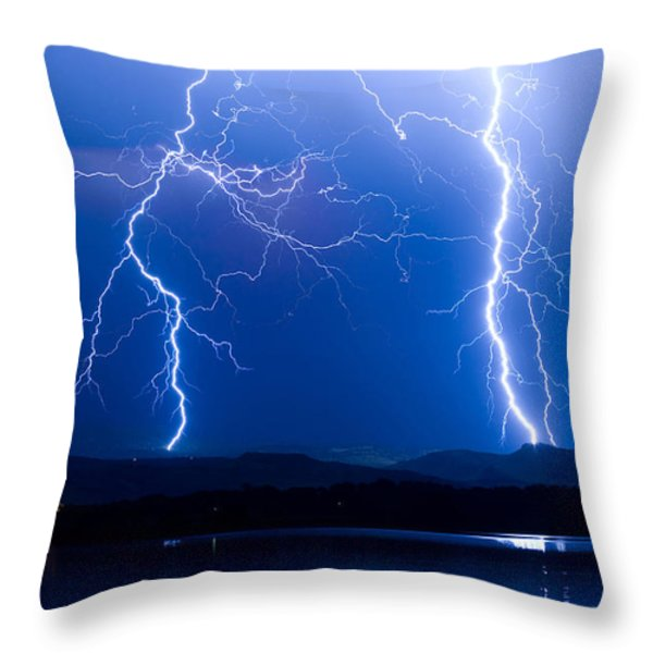 Lightning Storm 08.05.09 Throw Pillow by James BO  Insogna
