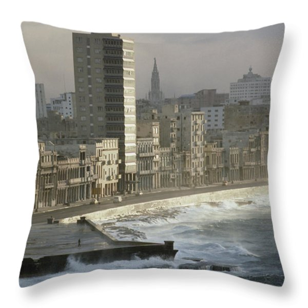 Like A Reef Built On Havanas Shore Throw Pillow by James L. Stanfield
