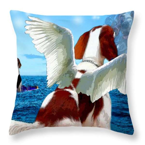lil Angels Forever My Hero's Throw Pillow by Tisha McGee