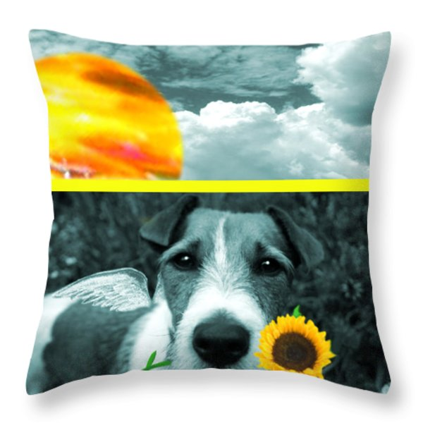 lil Angels Jack Throw Pillow by Tisha McGee