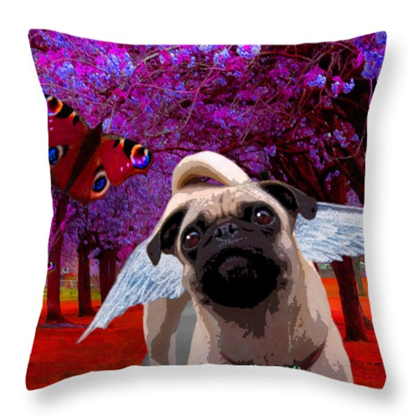 lil Angels Protective Eyes Throw Pillow by Tisha McGee