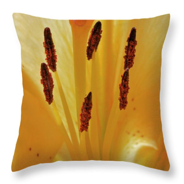 Lily Forest Throw Pillow by Gwyn Newcombe