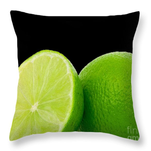 Limes Throw Pillow by Cheryl Young