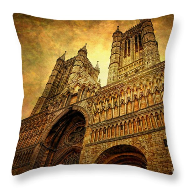 Lincoln Cathedral Throw Pillow by Yhun Suarez