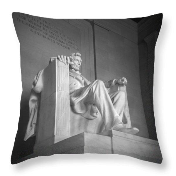 Lincoln Memorial  Throw Pillow by Mike McGlothlen