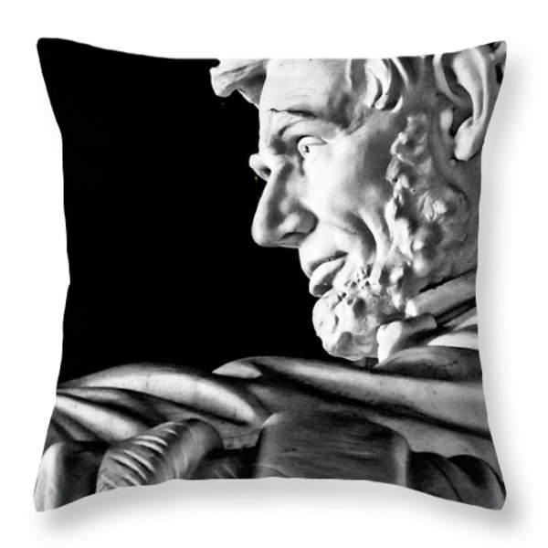 Lincoln Profile Throw Pillow by Christopher Holmes
