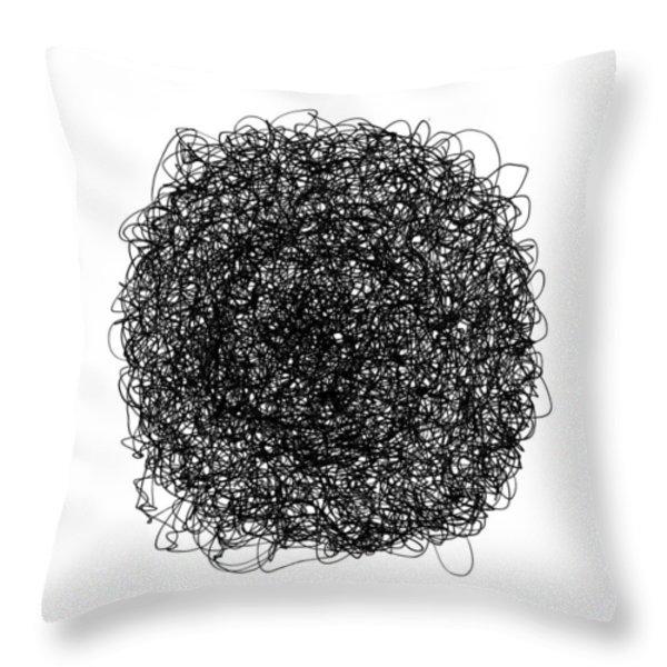 LINE 9 Throw Pillow by Rozita Fogelman