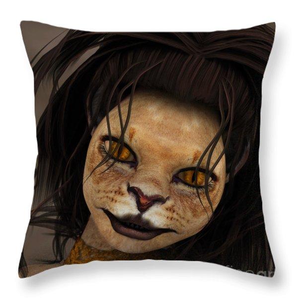 Lioness Throw Pillow by Jutta Maria Pusl