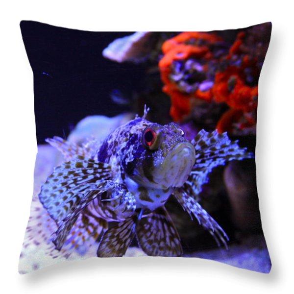 Lionfish Throw Pillow by Karon Melillo DeVega
