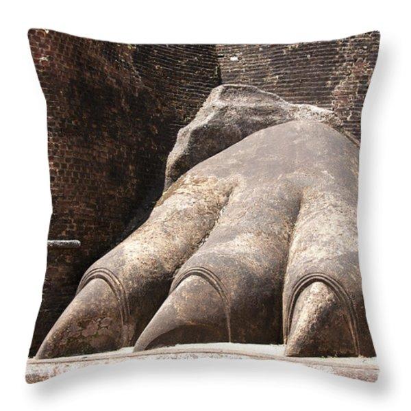 Lion's paw Sigiriya Throw Pillow by Jane Rix