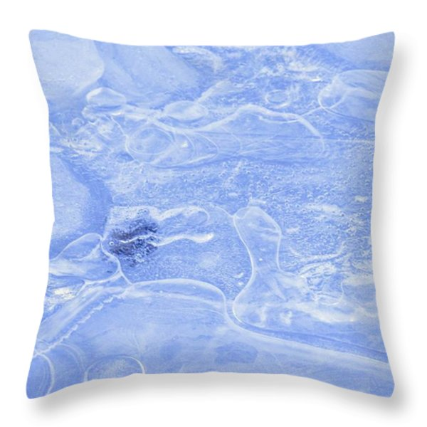 Liquid Texture Throw Pillow by Carson Ganci