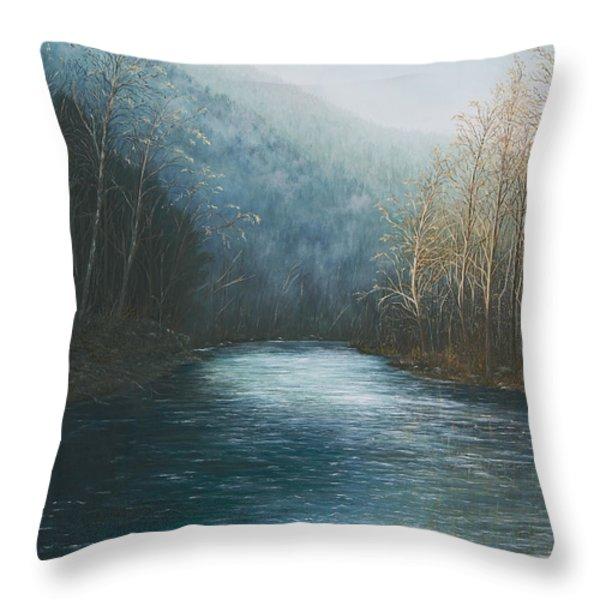 Little Buffalo River Throw Pillow by Mary Ann King