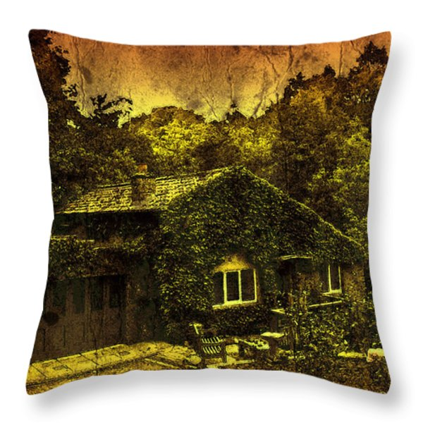 Little House Throw Pillow by Svetlana Sewell