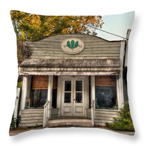 Little Old Shop Throw Pillow by Andrew Crispi