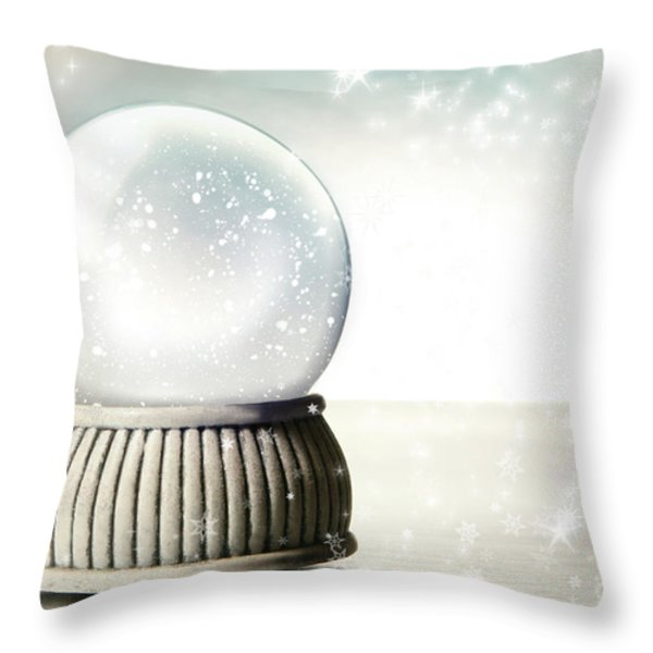 Little Red Gift Isolated On White Throw Pillow by Sandra Cunningham