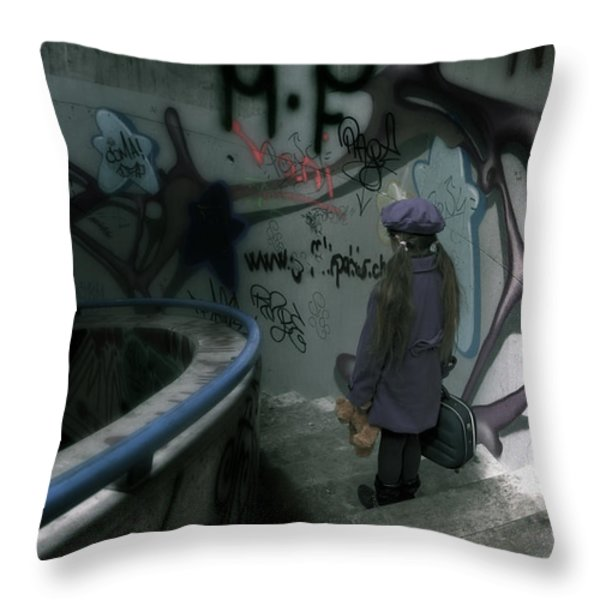 little runaway Throw Pillow by Joana Kruse