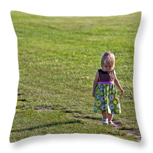 Little Steps Throw Pillow by Evelina Kremsdorf