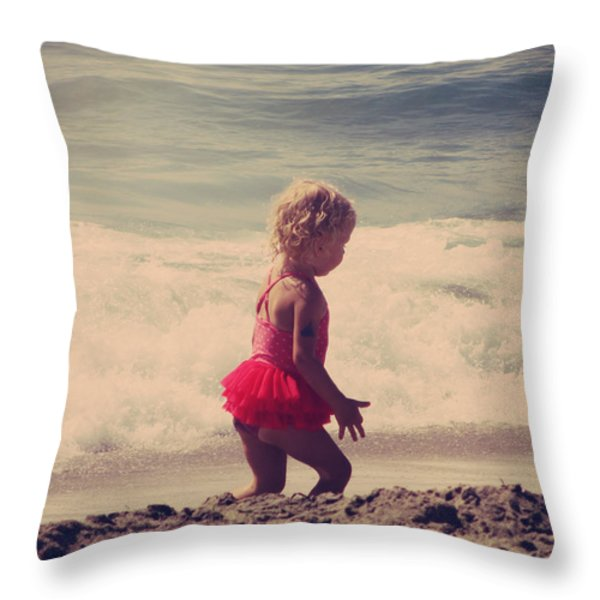 Little Tutu Throw Pillow by Laurie Search