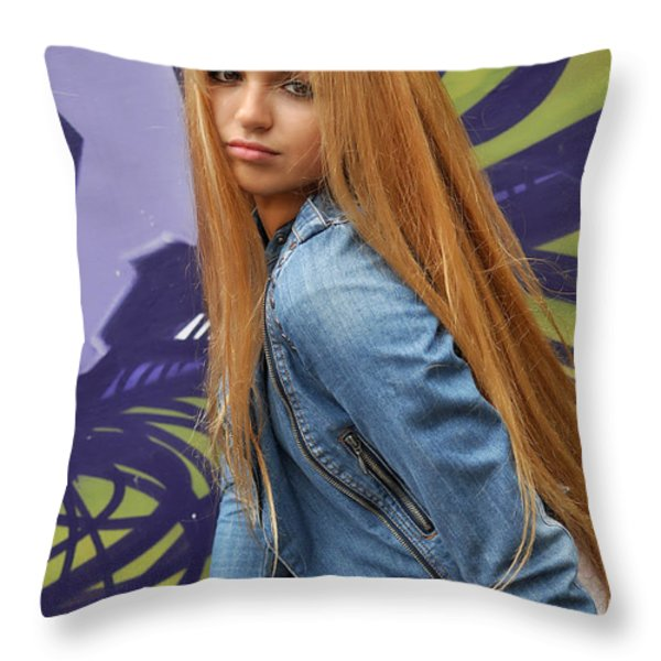 Liuda8 Throw Pillow by Yhun Suarez