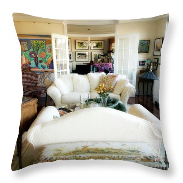 Living Room IV Throw Pillow by Madeline Ellis